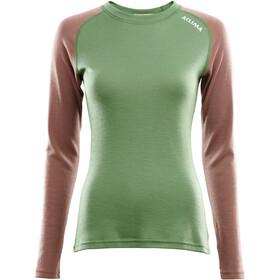Aclima WarmWool Shirt Col Ras-Du-Cou Femme, dill/cognac